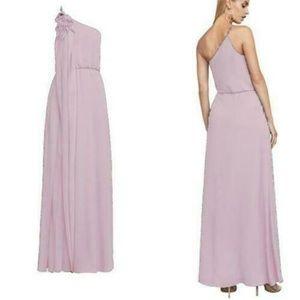 BCBGMaxazria Joyce One-Shoulder Lavender Gown XS